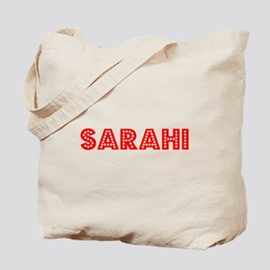 Retro Sarahi (Red) Tote Bag